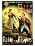 The Adventures of Robin Hood, Spanish Movie Poster, 1938 Prints