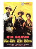 Rio Bravo, Spanish Movie Poster, 1959 Print