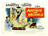 Artists and Models, UK Movie Poster, 1955 Giclee Print