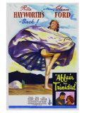 Affair in Trinidad, Australian Movie Poster, 1952 Poster