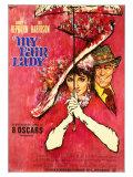 My Fair Lady, German Movie Poster, 1964 Digitálně vytištěná reprodukce