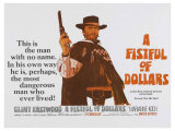 For a Few Dollars More, UK Movie Poster, 1966 Lámina giclée