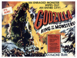 Godzilla, King of the Monsters, UK Movie Poster, 1956 Giclee Print