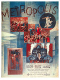 Metropolis, German Movie Poster, 1926 Art