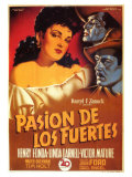 My Darling Clementine, Spanish Movie Poster, 1946 Art