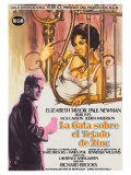 Cat On a Hot Tin Roof, Spanish Movie Poster, 1958 Poster