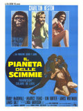 Planet of the Apes, Italian Movie Poster, 1968 Giclee Print