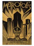 Metropolis, German Movie Poster, 1926 - Tablo