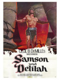 Samson & Delilah, German Movie Poster, 1949 Prints