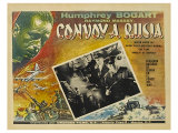 Action in the North Atlantic, Russian Movie Poster, 1943 Giclée-tryk