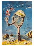 Les vacances de Monsieur Hulot : film de Jacques Tati, 1953 (Affiche allemande) Posters
