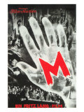M, German Movie Poster, 1931 Premium Giclee Print