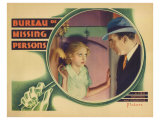 Bureau of Missing Persons, 1933 Giclee Print