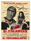 Dr. Strangelove, Belgian Movie Poster, 1964 Prints