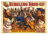 Ringling Bros - Army of 50 Clowns, 1960 - Reprodüksiyon