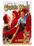 Captain Blood, Swedish Movie Poster, 1935 Art
