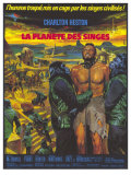 Planet of the Apes, German Movie Poster, 1968 Lmina gicle