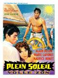 Purple Noon, Belgian Movie Poster, 1964 Reproduction giclée Premium