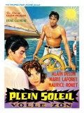 Purple Noon, Belgian Movie Poster, 1964 Premium Giclee Print
