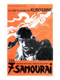 Seven Samurai, French Movie Poster, 1954 Kunstdrucke