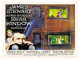Rear Window, UK Movie Poster, 1954 Reproduction procédé giclée