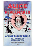 Alice the Peacemaker, 1924 Giclée-tryk