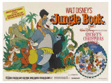 The Jungle Book, UK Movie Poster, 1967 Reproduction procédé giclée