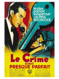 Dial M For Murder, French Movie Poster, 1954 Print