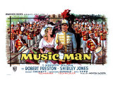The Music Man, Belgian Movie Poster, 1962 Giclée-tryk