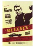 Bullitt, affiche française du film, 1968 Reproduction procédé giclée