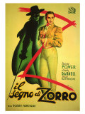 The Mark of Zorro, 1940 Gicle-tryk