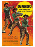 Django Shoots First, German Movie Poster, 1966 Plakater