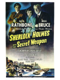 Sherlock Holmes and the Secret Weapon Premium Giclee Print
