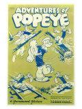 Adventures of Popeye, 1935 Giclée-tryk