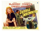 Double Indemnity, UK Movie Poster, 1944 Giclee Print