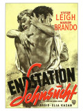 A Streetcar Named Desire, German Movie Poster, 1951 Reprodukce