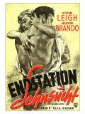 A Streetcar Named Desire, German Movie Poster, 1951 Digitálně vytištěná reprodukce