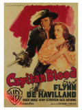 Captain Blood, Italian Movie Poster, 1935 Giclee Print