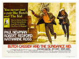 Butch Cassidy and the Sundance Kid, UK Movie Poster, 1969 Lámina giclée