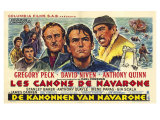 The Guns of Navarone, Belgian Movie Poster, 1961 Art