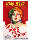 She Done Him Wrong, 1933 Giclee Print