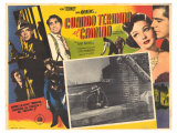 Where the Sidewalk Ends, Spanish Movie Poster, 1950 Giclee Print