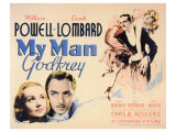 My Man Godfrey, 1936 Giclée-tryk