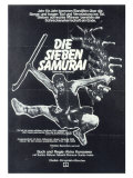 Seven Samurai, German Movie Poster, 1954 Kunstdrucke