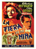 Bringing Up Baby, Spanish Movie Poster, 1938 Lámina giclée