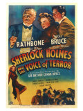 Sherlock Holmes and the Voice of Terror Giclee Print