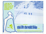 Ski on the Wild Side, 1967 Giclée-tryk