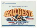 Beau Geste, UK Movie Poster, 1939 Giclee Print