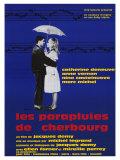 Les parapluies de Cherbourg, film de Jacques Demy, avec Catherine Deneuve, 1964 : affiche française Affiches