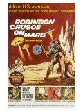 Robinson Crusoe on Mars, 1964 - Tablo